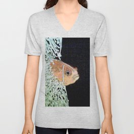 Glowing clownfish Unisex V-Neck