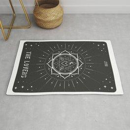Minimal Tarot Deck The Lovers Rug