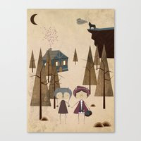 red riding hood Canvas Prints featuring Red Riding Hood by Liam Smith