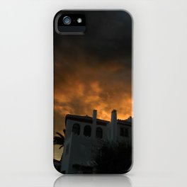 In the shadow of the sunset iPhone Case