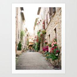 Strolling through Valbonne Art Print
