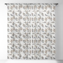 Leaves Painted in Acrylic Sheer Curtain