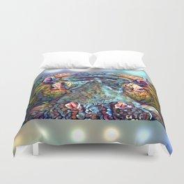 Whimsical Hippo Duvet Cover