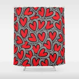 Love, love, love Shower Curtain