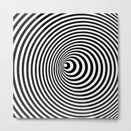 Vortex, optical illusion black and white Metal Print