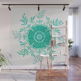 Leaflets – Mint Ombré Palette Wall Mural