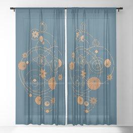 Lotus pool geometry Sheer Curtain