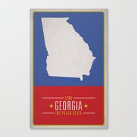 georgia Canvas Prints featuring GEORGIA by Matthew Justin Rupp
