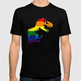 LGBT Dinosaur T Rex National Pride March Gay Equality T-shirt