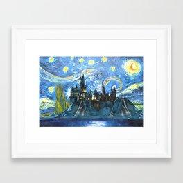 Starry Night in Hogwarts Castle - HP Framed Art Print