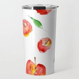 Watercolor Apples Travel Mug