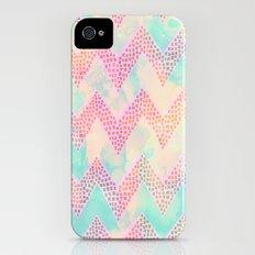 Little Squares Chevron - Pastel Slim Case iPhone (4, 4s)