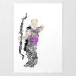 Clint Colour Bomb Art Print