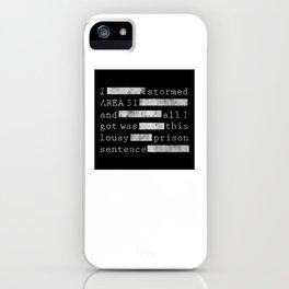 Area 51 Black Vault Document iPhone Case