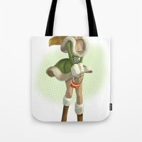 pin up Tote Bags featuring Pin up by paul drouin
