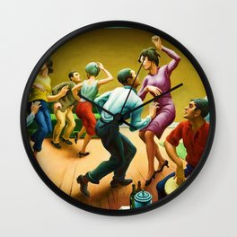Classical Masterpiece 'The Twist' by Thomas Hart Benton Wall Clock