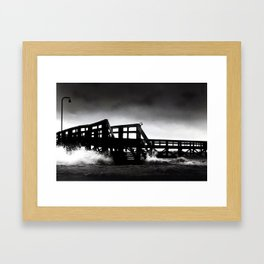 As the Water Rushes in Framed Art Print