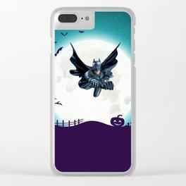 BAT MAN Clear iPhone Case