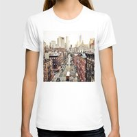 new york city T-shirts featuring New York City by Orbon Alija