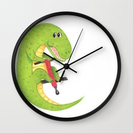Red and Green Pogo Croc Wall Clock