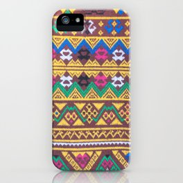 Hand Woven Thai Silk Pattern iPhone Case