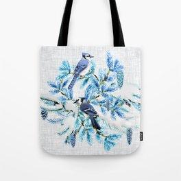 WINTER BLUE JAYS Tote Bag