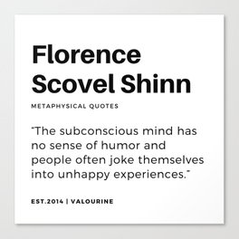 13     |Florence Scovel Shinn Quotes | 200126 Canvas Print