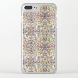 Echoes of deKooning - Pastel Abstract Clear iPhone Case