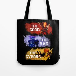 The Good The Bad The Cyborg - One Punch Man Tote Bag