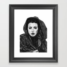 Meghan Ory Little Red Riding Hood Framed Art Print