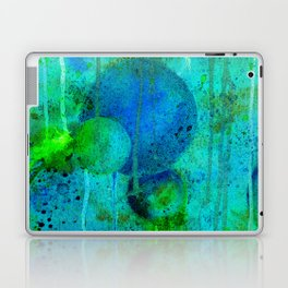 Blue Planets Bursting Plasma Laptop & iPad Skin