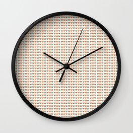 Hand Drawn Triangle Patterns Stripes Wall Clock