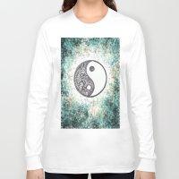yin yang Long Sleeve T-shirts featuring Yin & Yang by Hope
