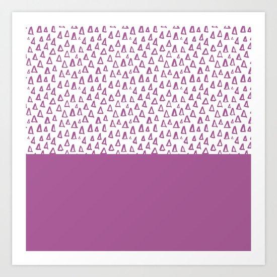 Triangles Purple Art Print