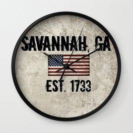 Savannah, Georgia Wall Clock