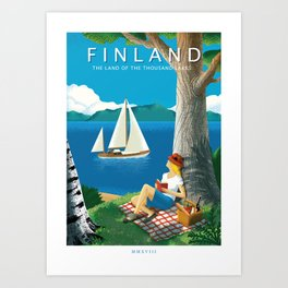 Finland - The land of the thousand lakes Art Print