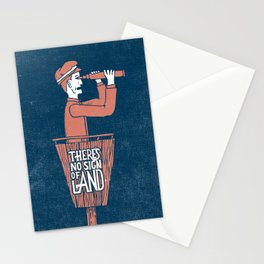 There's No Sign of Land Stationery Cards
