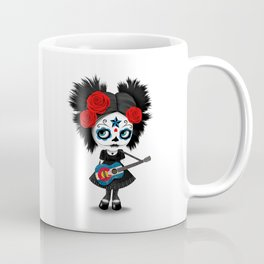 Day of the Dead Girl Playing Colorado Flag Guitar Coffee Mug