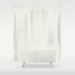 Meadow Mist Polka Dots Shower Curtain