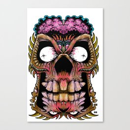tiki creepy Canvas Print