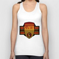 gamer Tank Tops featuring GAMER by Robleedesigns