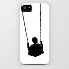 As He Swings (Black and White) iPhone Case