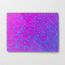 Aquatic Magenta Metal Print