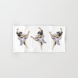 Pug Ballerina in Dog Ballet | Swan Lake  Hand & Bath Towel