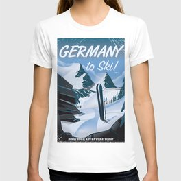 Germany to Ski! vintage travel poster T-shirt