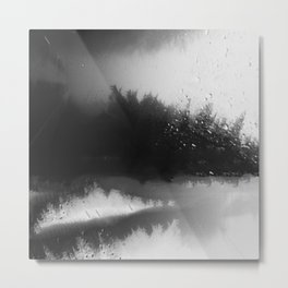 Fading Down Hidden Rain Drenched Paths Metal Print