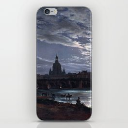 Johan Christian Dahl View of Dresden by Moonlight iPhone Skin