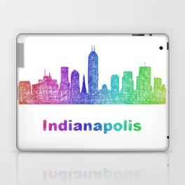 Rainbow Indianapolis skyline Laptop & iPad Skin