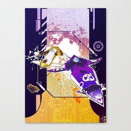 WipEout Inspired Artwork - Battle Racing Canvas Print