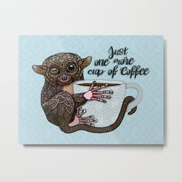 Tarsier Coffee Metal Print